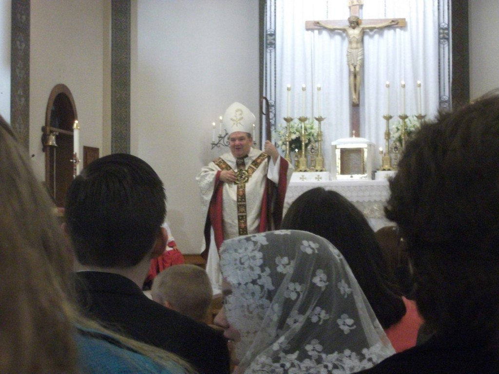 Bishop Hebda giving his Homily