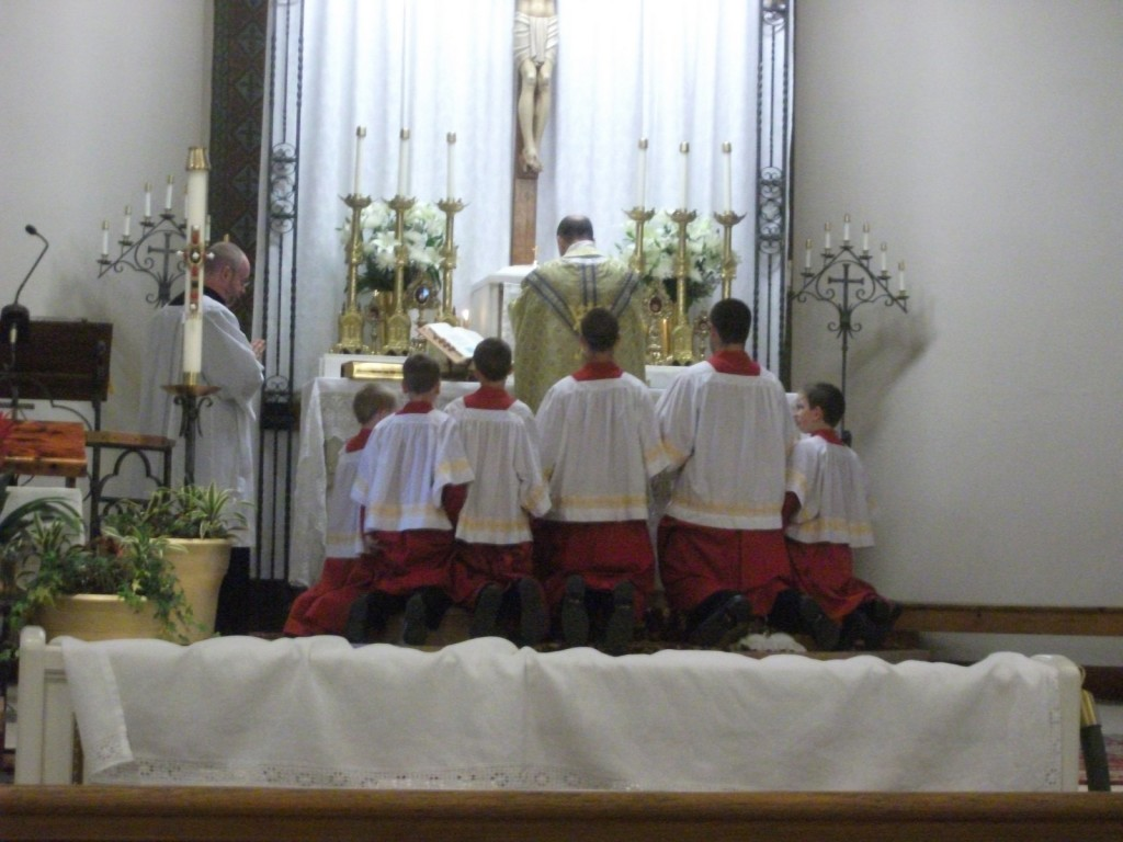 Kneeling for Communion