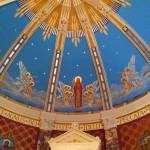 The sanctuary ceiling.